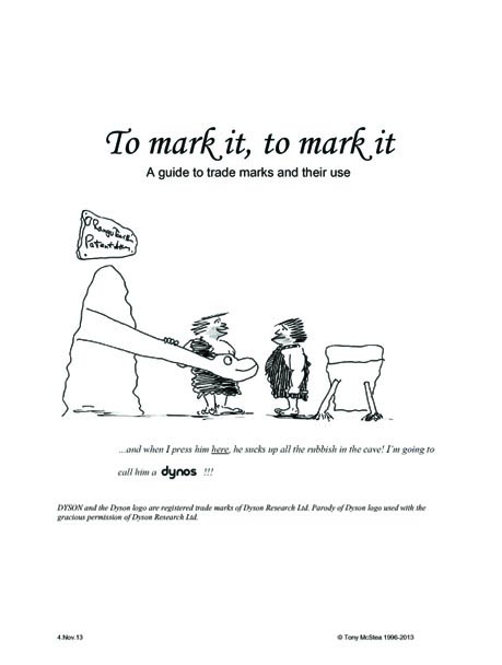 Cover of 'To Mark It, To Mark It'